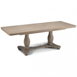 Loraine Oak Living & Dining Pedestal Ext  Dining Table 180/230cm