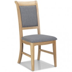 Loraine Natural Oak Living & Dining Chair Upholstered