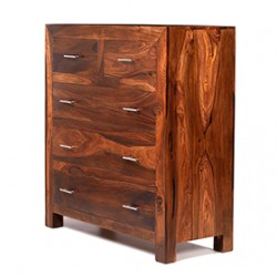 Cuba Sheesham 2 Over 3 Chest of Drawers