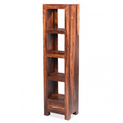 Cuba Sheesham Slim Jim Bookcase