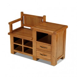 Emsworth Oak Hall Shoe Storage Bench