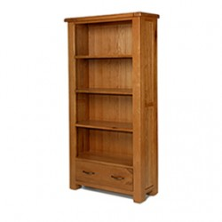 Emsworth Oak Large Bookcase with Drawers