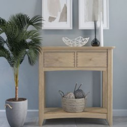 Parquet Oak Console table