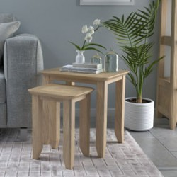 Parquet Oak Nest Of Tables