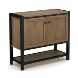 Riverside Industrial Oak 2 Door Cabinet
