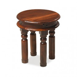 Jali Sheesham 40 cm Round Thakat Coffee Table