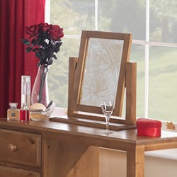 Country Pine Dressing Table Vanity Mirror