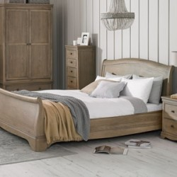 Loraine Oak Bedroom Double Bed 4ft 6in