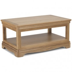Loraine Natural Oak Living & Dining Coffee Table With Shelve