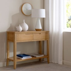 Cadley Oak Console Table