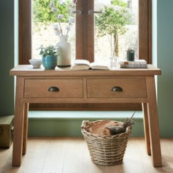 Howland Rough Sawn Oak Console Table