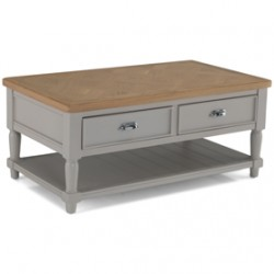 Chaldon Painted  Coffee Table With Drawers