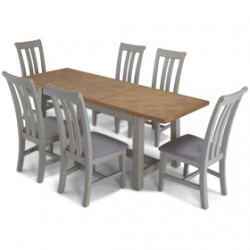 Chaldon Painted Ext Dining Table with 6 Chairs