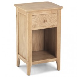 Enfield Oak Small Bedside Cabinet with Drawer
