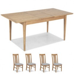 Enfield Oak 140/180cm Extended Dining Table and 4 Chairs
