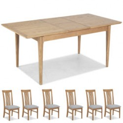 Enfield Oak 140/180cm Extended Dining Table and 6 Chairs