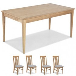 Enfield Oak 160cm Dining Table and 4 Chairs