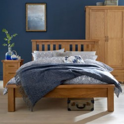 Kingham Oak 4ft6 Double Bed Low Foot