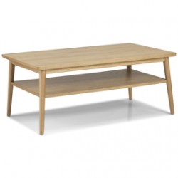 Skioa Oak Large Coffee Table With Shelve