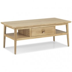 Skioa Oak Coffee Table With Drawer