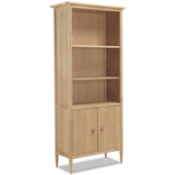 Skioa Oak Large Bookcase With  Doors