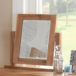 Rustic Oak Dressing Table Vanity Mirror