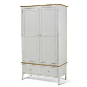 Mariah Painted Double Wardrobe with Drawer