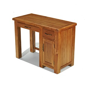 Emsworth Oak Single Pedestal Computer Desk
