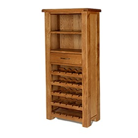 Emsworth Oak Tall Wine Rack Unit