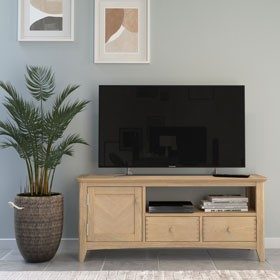 Parquet Oak Wide TV Unit