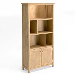 Parquet Oak Large Multi Display Bookcase