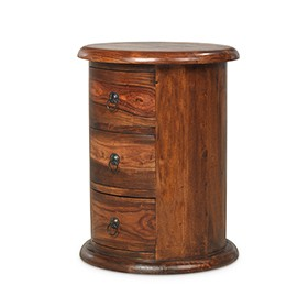Jali Sheesham 3 Drawer Drum Chest of Drawers