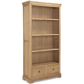 Loraine Natural Oak Living & Dining Large Bookcase