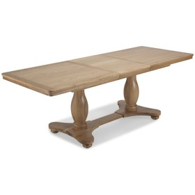 Loraine Natural Oak Living & Dining Pedestal Ext Dining Table 1800/2300