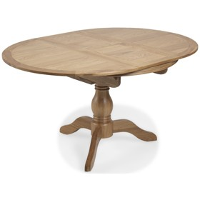 Loraine Natural Oak Living & Dining Ciruclar Extended Dining Table