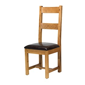Oak Dining Chairs - Pair