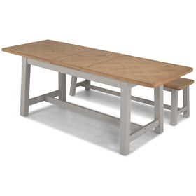 Chaldon Painted Ext Dining Table with 2 Benches