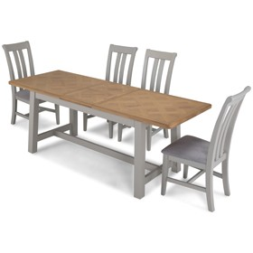 Chaldon Painted Ext Dining Table with 4 Chairs
