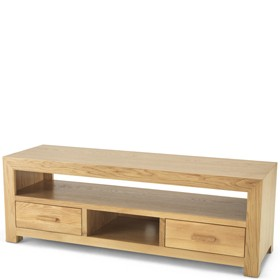 Cuba Oak Plasma TV Unit