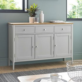 Elstead Painted Large Sideboard  3 Door/3 Drawer
