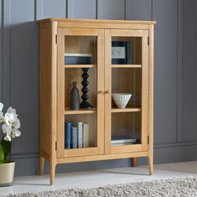 Enfield Oak Glazed Display Cabinet