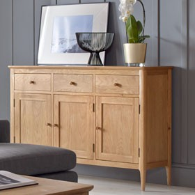 Enfield Oak Large Sideboard 3 Door/3 Drawers
