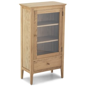 Enfield Oak Glazed Bookcase