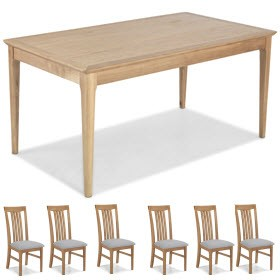 Enfield Oak 160cm Dining Table and 6 Chairs