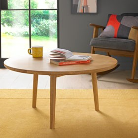 Skioa Oak Circular Coffee Table