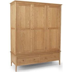 Danbury Oak Triple Wardrobe
