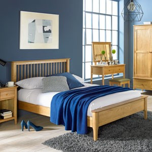 "Danbury Oak 4'ft 6"" Double Bed"